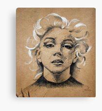 Marilyn ink B&W Canvas Print