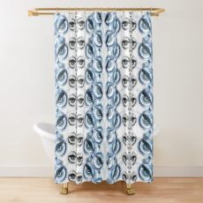 The wise Owl sees the Fox and the Bait Shower Curtain