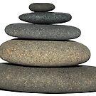 Rock Stack Cairn  by Chrissy Ferguson