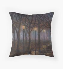 Stained Glass of Rain Throw Pillow