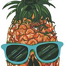Skull Pineapple on Vacation by StickaBomb