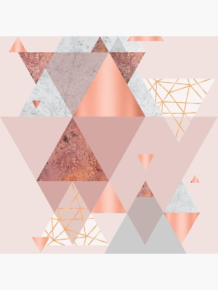 Blush Pink Geo by UrbanEpiphany