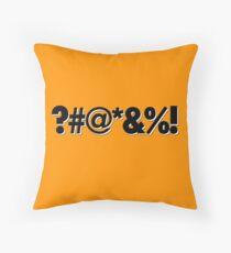 Q*Bert Parody ?#@*&%!  Throw Pillow