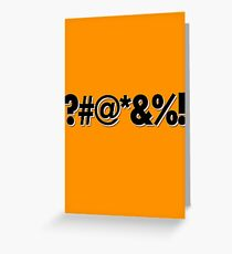 Q*Bert Parody ?#@*&%!  Greeting Card