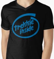Trekkie Inside Mens V-Neck T-Shirt