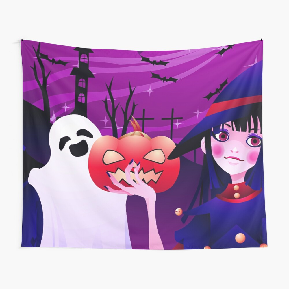Boderlands Halloween Trick or Treat Loot Wall Tapestry