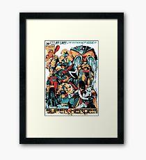 HANNA-BARBERA SUPER HEROES OLD Framed Print