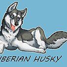 Husky love - Black by aunumwolf42