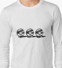 Pokemon - 3 Pokéballs Graffiti (Black) Long Sleeve T-Shirt