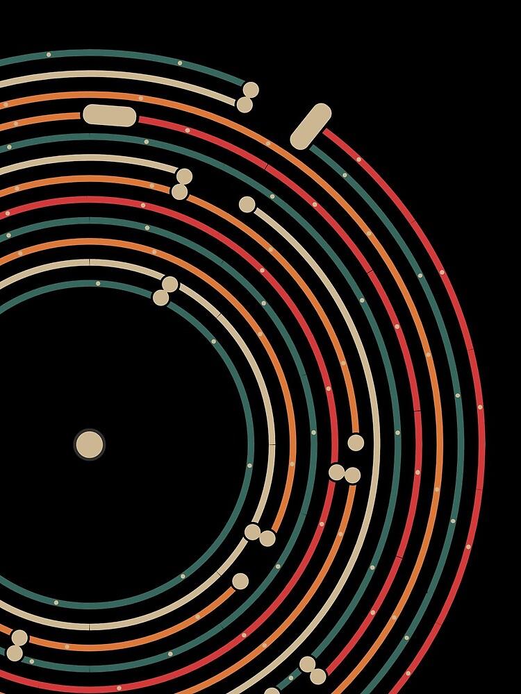 Vinyl music metro record map labyrinth  by masatomio