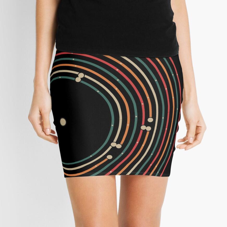 Vinyl music metro record map labyrinth  Mini Skirt