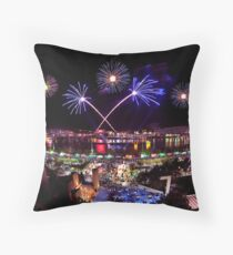 Cincinnati, Fireworks Throw Pillow