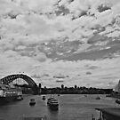 Sydney Bridge and Opera House by johnnabrynn