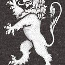 «León rampante - blanco real» de Garyck Arntzen