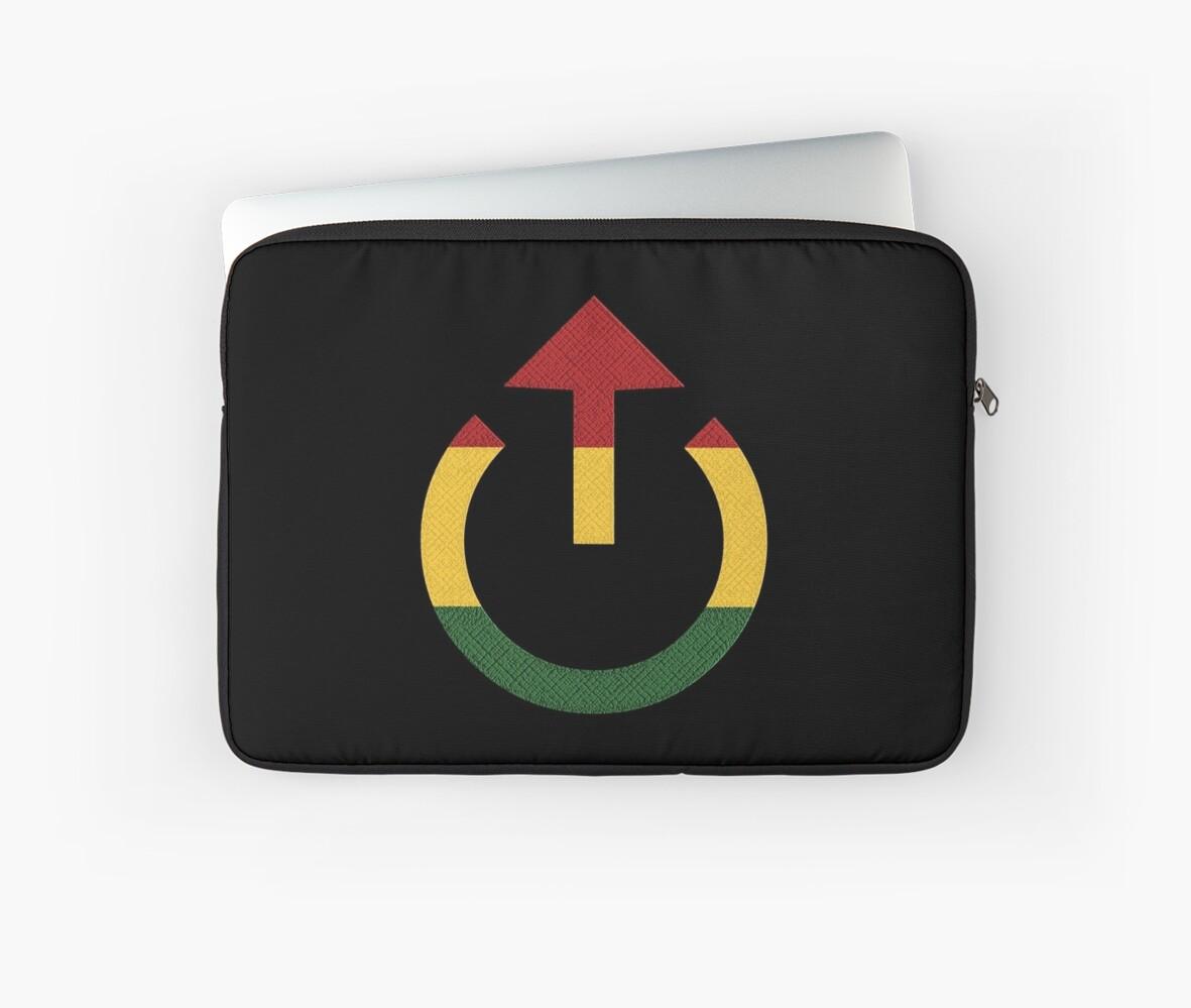 Loud Reggae Music Symbol Laptop Sleeves By Matanga Redbubble