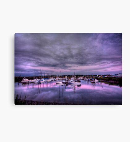 Purple Harbor Canvas Print