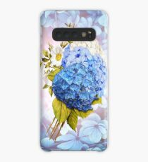 Blue Shades of Watercolor Hydrangeas  Case/Skin for Samsung Galaxy