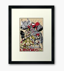 LEGENDS OF THE 80´S Framed Print