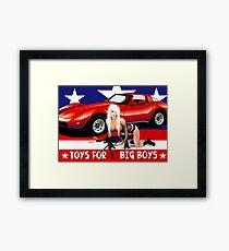 Toys For Big Boys Framed Print