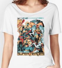 HANNA-BARBERA SUPER HEROES Women's Relaxed Fit T-Shirt