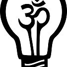 OM-Symbol-Glühlampe - Weiß auf Schwarzem von XOOXOO