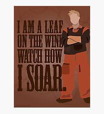 I'm Leaf On the Wind  Photographic Print