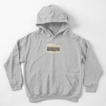 Lithograph of Brattleboro, 1886 by L.R. Burleigh Kids Pullover Hoodie
