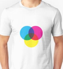 Primary color circles Unisex T-Shirt