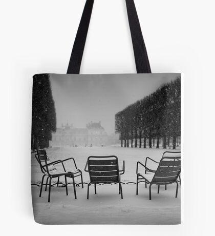 Paris in the snow (2) Tote Bag