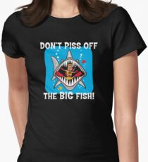 Funny Scuba Womens Fitted T-Shirt
