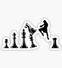 Kickboxing Chess Jumping Knee Sticker