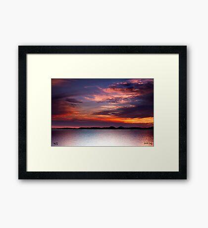 Colours of the Sun Framed Print