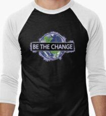 Sei die Veränderung! Baseballshirt für Männer