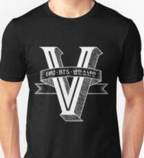 V - BTS Member Logo Series (White) Unisex T-Shirt
