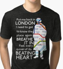 London Underground Map Sherlock Tri-blend T-Shirt