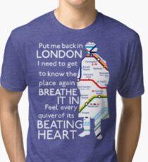 London Underground Map Sherlock Tri-blend T-Shirt