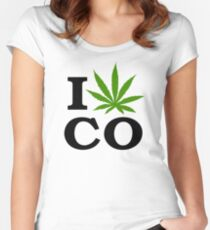 I Marijuana Colorado Women's Fitted Scoop T-Shirt