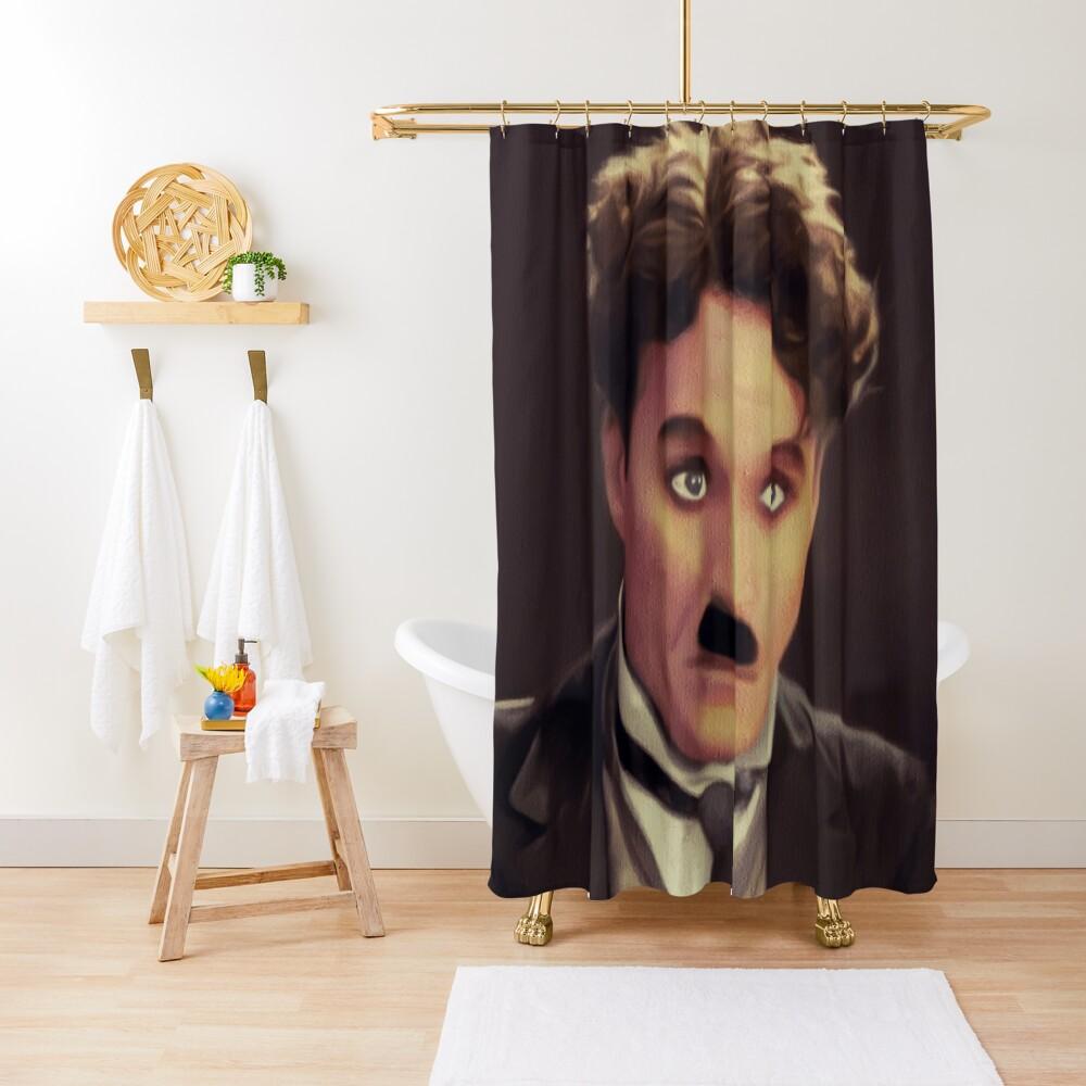Charlie Chaplin, Hollywood Legend Shower Curtain