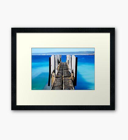 Canal Rocks Boat Ramp Framed Print