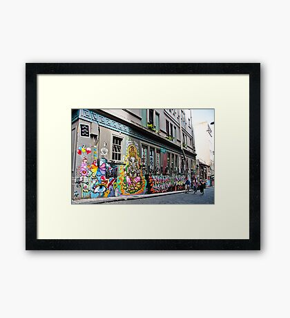 Hosier Lane, Melbourne Framed Print