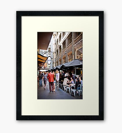 Degraves Street, Melbourne Framed Print