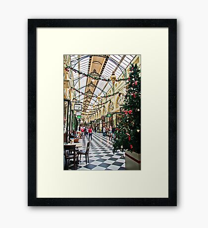 The Royal Arcade, Melbourne Framed Print