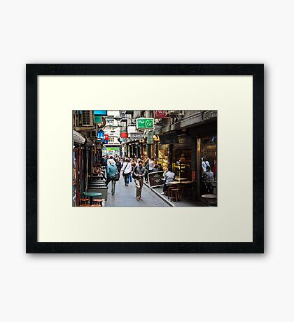 Centre Place, Melbourne Framed Print