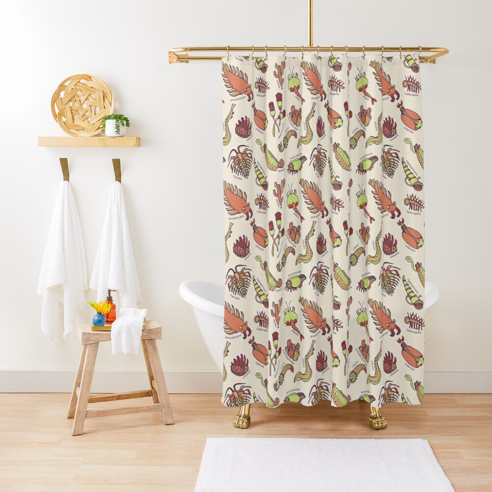 Cambrian Critters Shower Curtain