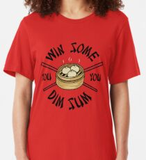 You Win Some You Dim Sum // Cute Funny Food Pattern  Slim Fit T-Shirt