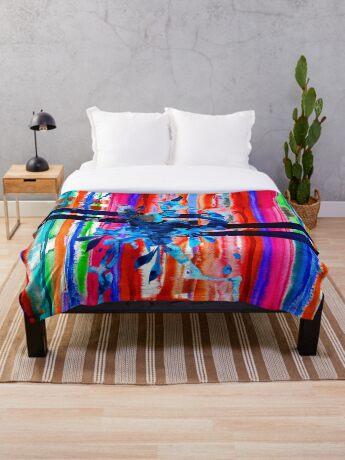 BAANTAL / Lines Throw Blanket