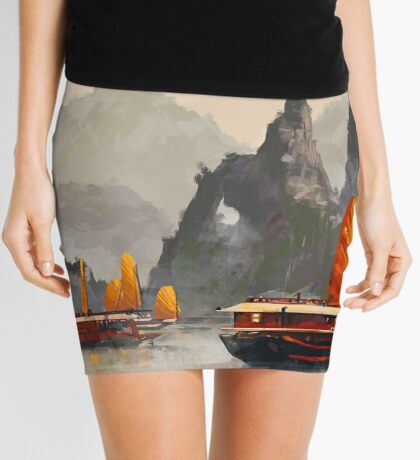 Ha Long Bay Mini Skirt