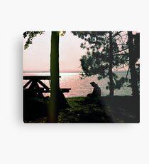 Lake Golden Metal Print