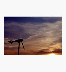 Dawn of renewable energy. Photographic Print