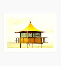Life-Savers Hut on Glenelg Beach Art Print